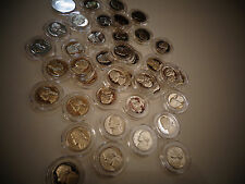 LOT OF 2-1976 S Jefferson Nickel Gem Proof  FROM ROLL,USA Coins+ EACH IN CAPSULE
