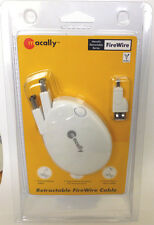 Retractable FireWire Cable (1394) 6pin-6pin with 4pin Adaptor , FREE UK P&P !