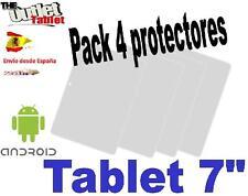 """Pack 4 Protectores Universales pantalla para Tablet de 7"""" 7 pulgadas Universal"""