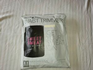 Sweet Sweat Waist Trimmer Belt Size MEDIUM  Unisex Pink & Black - NEW!