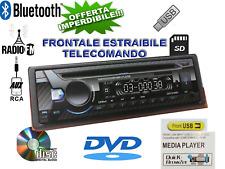 AUTORADIO 1DIN CD DVD MP3 AUX USB SD VIVAVOCE BLUETOOTH STEREO AUTO LETTORE 52W