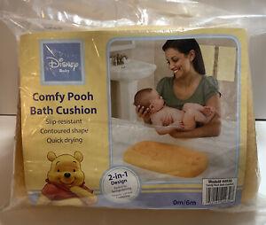 Disney Baby Foam Bath Cushion ~0-6 Months Winnie the Pooh Contoured Shape ~Rare