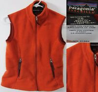 Patagonia Synchilla Women's Vest Size XS Full Zip Orange