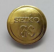 """NEW VINTAGE GRANDSEIKO GS GOLD MEDALLION FOR REPLACEMENT ON CASE BACK """"GS"""""""