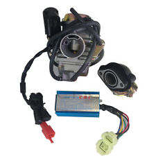 Carburetor & Intake Manifold & Performance CDI Fits for GY6 150cc Moped Scooter