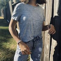 OLD NAVY CROPPED GRAY TEE