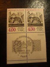 BLOC 2 timbres - YT 2541 - 1er jour - FRANCE - neufs** - BUFFON - Renard - 1988