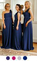 1 Shoulder Chiffon Bridesmaid Dress Long Maxi Formal Prom Ballgown Wedding Party