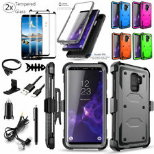 For Samsung Galaxy S9/S9 Plus Case Cover With Belt Clip Holster Screen Protector