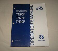 New Holland TN65F TN75F TN90F Tractor Operator's Owner's Manual