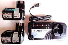 (2) New GENUINE Hitachi EBM1830 18V 3.0 AH Batteries,   UC18YRL Charger 18 Volt