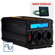 POWER INVERTER 1500W/3000W DC 12V AC 230V POTENZA SINUSOIDALE ONDA PURA  LCD
