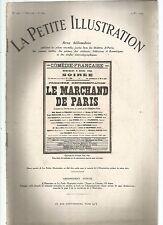 LA PETITE ILLUSTRATION N°229 - LE MARCHAND DE PARIS COMEDIE 3 ACTES DE E. FLEG