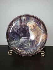 Mischief Makers Labrador Pups Collectors Plate With Stand