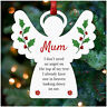 Angel Memorial Christmas Tree Decoration PERSONALISED Mum Dad Nan Husband Wife