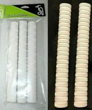 5 X Kookaburra PLAYERS Grips - FULLY WHITE Cricket Bat Grips