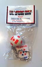 LOT OF 5 TEAM CANADA FLAG SOCCER BALL KEYCHAINS - CANADIAN
