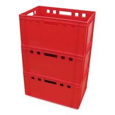 3 Stück E3-Kiste Stapelbox Kunststoffbehälter Eurokiste Eurobox Lagerbox rot.