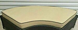 Frontgate Malibu Outdoor Patio Sofa Ottoman cushion 25x67 Golden Sesame brown