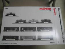 "Marklin HO 45644 Set with 6 ""Tin-Plate"" Freight Box Cars - Limited Edition - NIB"
