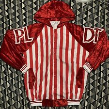 Manny Pacquiao Eric Pineda PLDT Boxing Team Striped Red White Velour Jacket