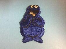 Vintage 1970's Sesame Street Cookie Monster Hat Hipster Jacket Patch Crest B