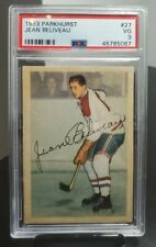1953/54 Parkhurst Parkie Jean Beliveau RC Rookie Card PSA 3 VG Beauty!