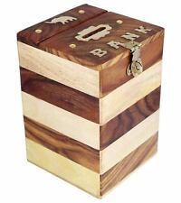 Handmade Wooden Piggy Bank - Money Bank - Coin Box - Money Box - Gift Home Decor