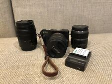 Panasonic LUMIX DMC-GM5 16.0MP Digital Camera - Black With Three Lenses.