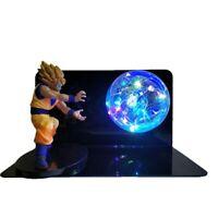 Dragon Ball Z figuras de acción Goku con bola de luz led lámpara LED de noche