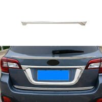 Chrome Rear Tail Trunk Lid Cover License Pate Trim For 2015-2018 Subaru Outback