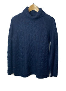 Joules Womens Jumper Z_Jessie Size 8 French Navy Blue Chunky Knit Winter