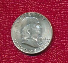 1948 Franklin Silver Half Dollar *Choice Brilliant Uncirculated* Free Shipping