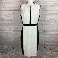 White House Black Market Women's Sleeveless Sheath Dress Size 10 Colorblock