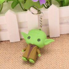 1pc Figura De Star Wars Maestro Yoda Colgante Llavero Llaveros De Juguete De Antorcha LED Lite