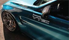 "Powered by VTEC Decal Sticker 2 Vtec TLX RSX S2000 Honda Integra Type R 12"" Pair"