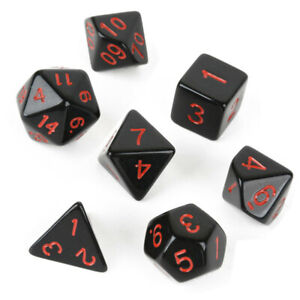 7Pcs D4-D20 Polyhedral Muti-sided Dice Set For Dungeons & Dragons Table Games