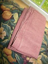"""VINTAGE HOMESPUN COTTON Small Gingham Fabric Quilt/Doll 44 wide, 38"""" Long"""