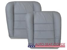 03 06 Ford F 250-350 Lariat Crew Cab V8 Dri. Pas. Bottom Leather Seat cover GRAY