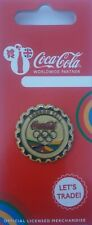 OFFICIAL COCA COLA  LONDON 2012 OLYMPIC GOLD MEDAL BOTTLE CAP PIN BADGE (MOC)