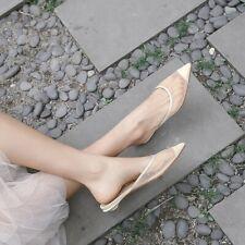 Womens Ladies Fashion Pointed Toe Polka Dot Mesh Slip On Court Shoes Mules QIOC