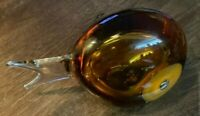 """Gorgeous VintagAmber Fish Art Studio Paperweight- Great Details & Quality 7""""x4"""""""