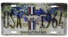 "USA 1964 Mustang Sports Car 6""x12"" Aluminum License metal Plate Sign"