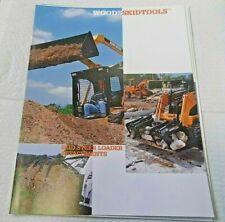 Factory 1997 Woods Skid Steer Tools Attachments Dealership Spec Brochure Manual