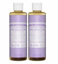 Dr Bronner`s Organic Lavender Castile Liquid Soap 237ml - Vegan (Pack of 2)