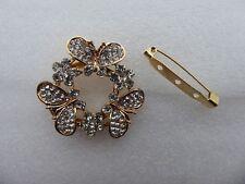 Butterfly Scarf Ring Brooch,Elegant,Mum,Diamante,Rhinestone,Gift,Gems,Beautiful