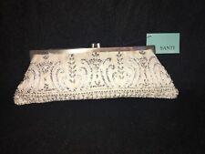 *NEW* Santi Silk Satin Clutch, Evening purse, Handbag, Wedding, Retail: $200