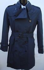AQUASCUTUM Navy Blue Mid-weight BLADEN Rain Trench Coat sz 44 BNWT