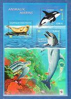 France Bloc N°48 Série Nature de France Faune Marine 2002 Neuf Luxe