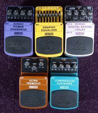 More details for behringer electric guitar effects pedals, stomp box, digital, eq, reverb, 9v